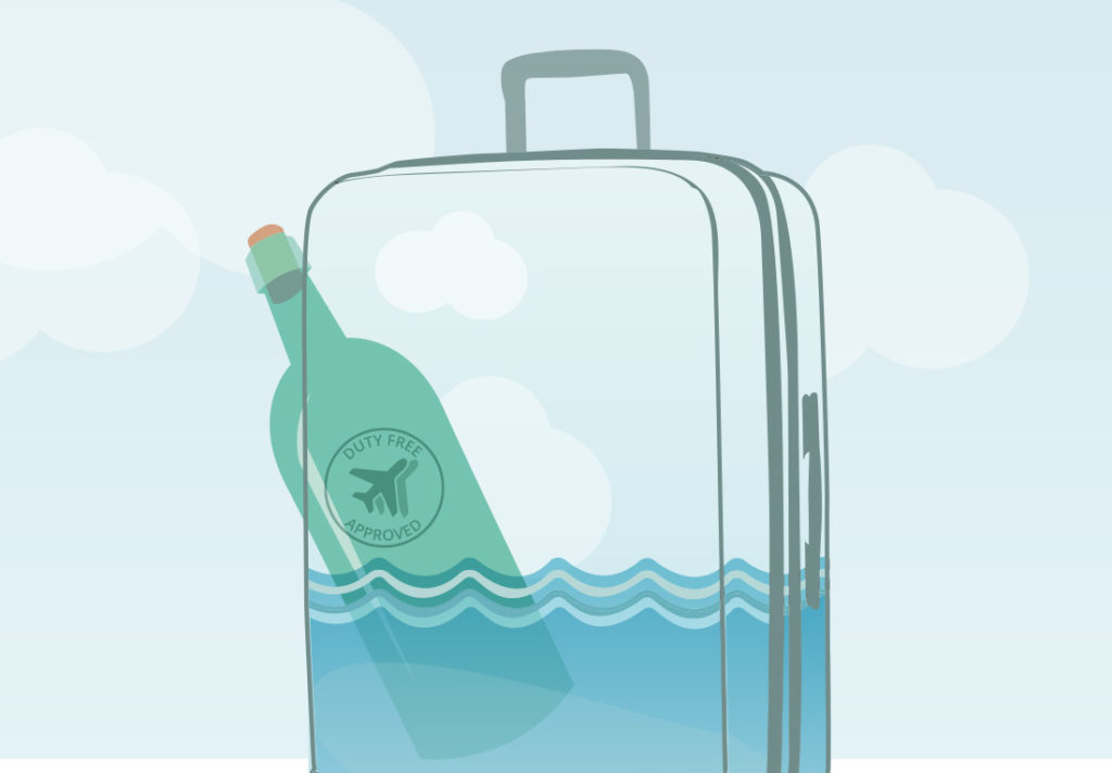 Flüssigkeiten im Koffer - Alkohol und Tax-Free Getränke